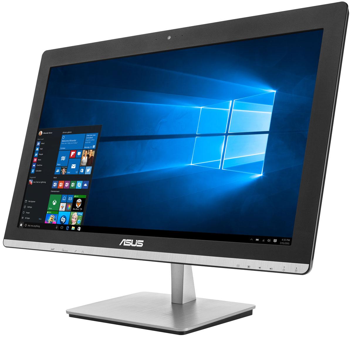 ASUS Vivo AiO V230ICGK-BC274X, Black моноблокV230ICGK-BC274XУстройство Asus V230ICGK - это полноценный моноблочный компьютер, включающий в себя дисплей, процессор, видеокарту, оперативную и пользовательскую память. Он выполнен в красивом корпусе, который будет удачно смотреться в домашнем интерьере. Компактное полнофункциональное устройство, такое как моноблочный компьютер Asus V230ICGK, идеально подходит для современного дома, поскольку его можно использовать для самых различных приложений, как рабочих, так и развлекательных, при этом не засоряя домашний интерьер множеством кабелей и дополнительных приспособлений. Изящная подставка прочно удерживает моноблочный компьютер на месте. В отличие от подставок аналогичных моделей, ее верхний конец прикреплен к задней панели дисплея, а не к его основанию. Моноблочный компьютер Asus V230ICGK оснащается процессором Intel Pentium G4400T, который показывает высокую производительность при низком энергопотреблении. С ним можно комфортно выполнять любые...