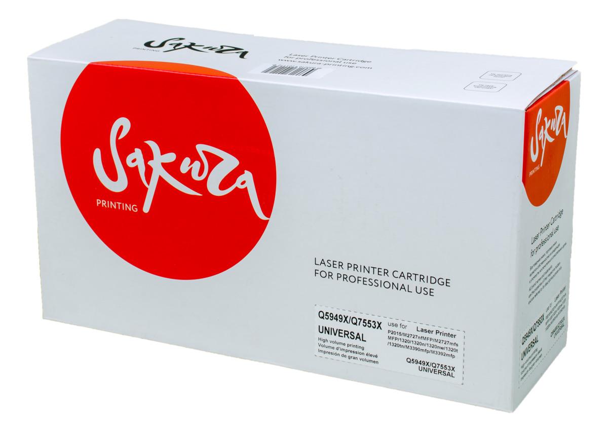 Sakura Q5949X/Q7553X, Black тонер-картридж для HP LaserJet P2015/M2727/1320/M3390mfp/M3392mfpSAQ5949X/Q7553XТонер-картридж Sakura Q5949X/Q7553X для лазерных принтеров HP LaserJet P2015/M2727/1320/M3390mfp/M3392mfp является альтернативным решением для замены оригинальных картриджей. Он печатает с тем же качеством и имеет тот же ресурс, что и оригинальный картридж. В картриджах компании Sakura используется химический синтезированный тонер, который в отличие от дешевого тонера из перемолотого полимера, не царапает, а смазывает печатающий вал, что приводит к возможности многократных перезаправок картриджей. Такой подход гарантирует долгий срок службы принтера, превосходное качество и стабильность печати. Тонер-картриджи Sakura производятся при строгом соответствии стандартам ISO 9001 и ISO 14001, что подтверждено международными сертификатами.