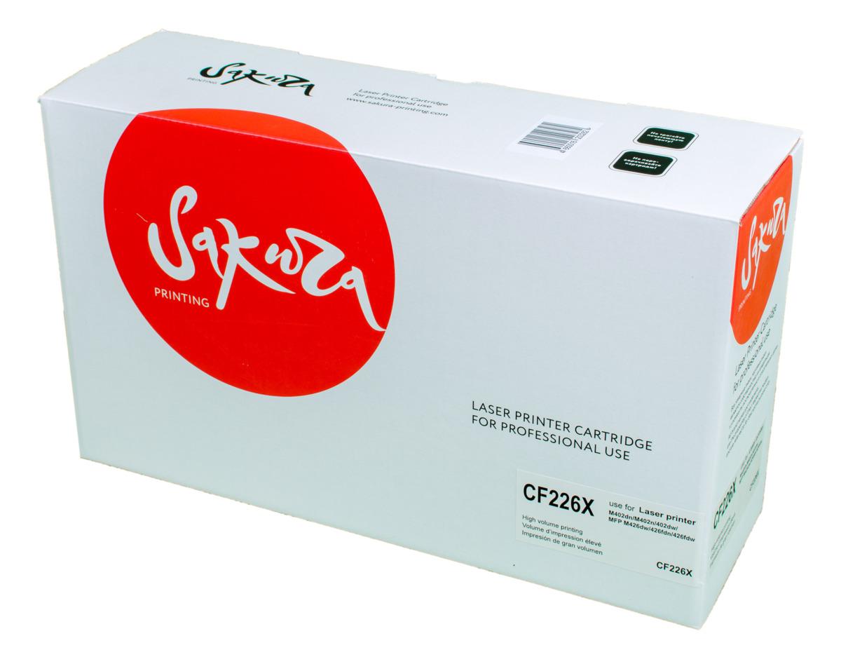 Sakura CF226X, Black тонер-картридж для HP LaserJet Pro M402n/M402dn/M402dw/M426dw/M426fdn/M426fdwSACF226XТонер-картридж Sakura CF226X для лазерных принтеров HP LaserJet Pro M402n/M402dn/M402dw/M426dw/M426fdn/M426fdw является альтернативным решением для замены оригинальных картриджей. Он печатает с тем же качеством и имеет тот же ресурс, что и оригинальный картридж. В картриджах компании Sakura используется химический синтезированный тонер, который в отличие от дешевого тонера из перемолотого полимера, не царапает, а смазывает печатающий вал, что приводит к возможности многократных перезаправок картриджей. Такой подход гарантирует долгий срок службы принтера, превосходное качество и стабильность печати. Тонер-картриджи Sakura производятся при строгом соответствии стандартам ISO 9001 и ISO 14001, что подтверждено международными сертификатами.
