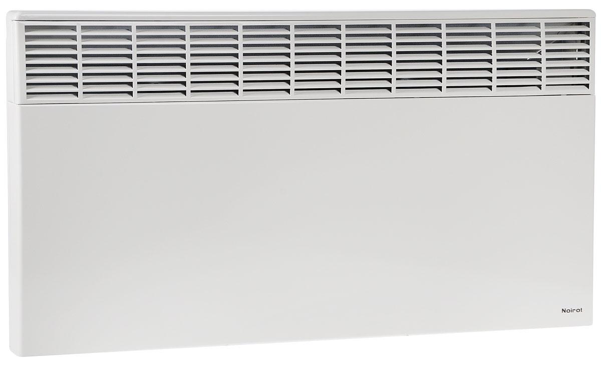 Noirot CNX-2 2500 электрический обогреватель29.7264.8.ARERNoirot CNX-2 2500 - это электрический обогреватель конвективного типа. Вся конструкция прибора направлена на равномерное распределение тепла для обогрева с максимальным комфортом. Устройство работает по принципу естественной конвекции. Холодный воздух, проходя через конвектор и его нагревательный элемент, нагревается и выходит сквозь решетки-жалюзи, незамедлительно начиная обогревать помещение. Обогреватель оснащен надежным механическим термостатом и поддерживает комфортный микроклимат при минимальном потреблении электроэнергии. Прибор применяется в качестве основного и дополнительного отопления загородных домов, городских квартир, застекленных балконов, зимних садов и т. д., а также в других местах, где электрическое отопление является единственно возможным. Конвектор легко и быстро монтируется на стену или устанавливается на специальные ножки (дополнительная опция, приобретаются отдельно). Конструктивные особенности конвектора исключают...