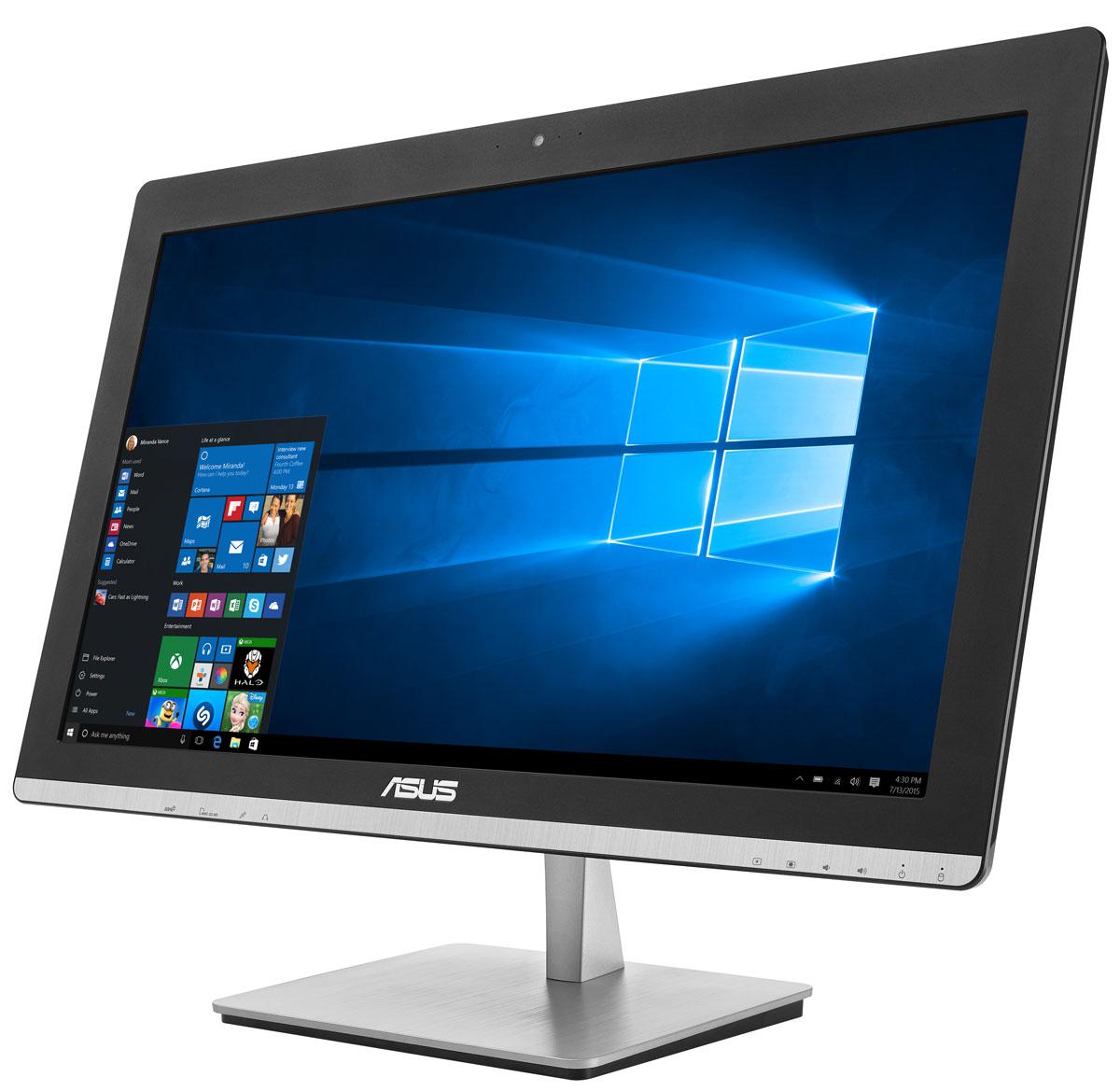 ASUS Vivo AiO V230ICUK-BC354X, Black моноблокV230ICUK-BC354XВ тонком и компактном корпусе моноблока ASUS Vivo AiO V230IC разместились все компоненты современного компьютера - дисплей, процессор, видеокарта, память, диск и многое другое. Этот новый моноблочный ПК, получивший новейший процессор и мощную графическую систему, оснащается стильной металлической подставкой. Современный моноблок серии Vivo AiO - это компактное устройство с полным набором возможностей настольного компьютера. Благодаря тонкому корпусу он не занимает много места на столе, способствуя созданию уютной обстановки в помещении. Стильная серебристая подставка, используемая в моноблоке V230IC, придает ему дополнительную изящность. Уникальный шарнирный механизм спрятан под задней панелью, что делает внешний вид устройства еще более утонченным и органичным. Новейший процессор Intel сделает комфортной работу с несколькими одновременно запущенными программами, а технология Intel Turbo Boost 2.0 придает ему дополнительную скорость в...