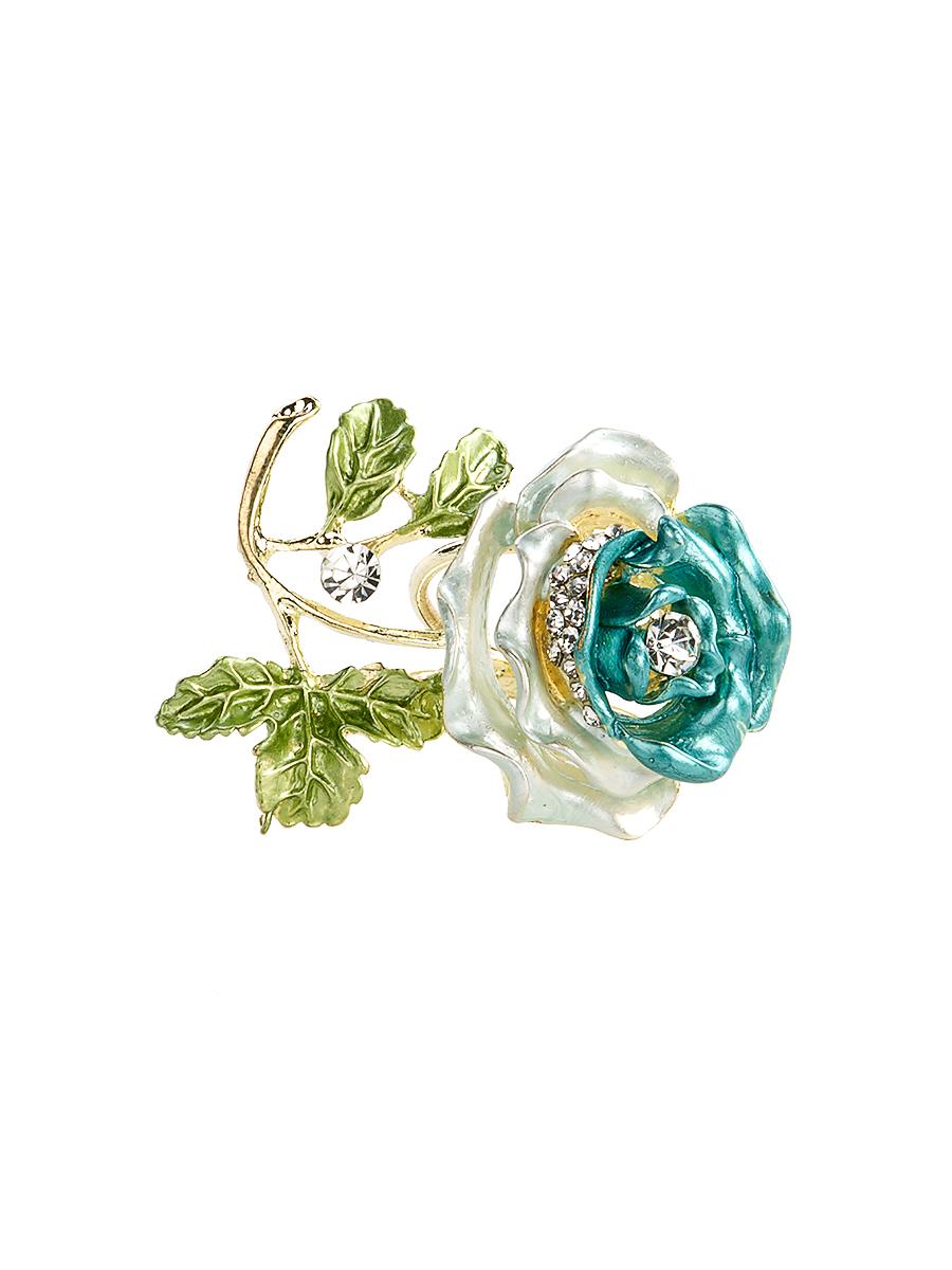 Кольцо для платка Charmante, цвет: голубой, зеленый, золотой. ZK050ZK050