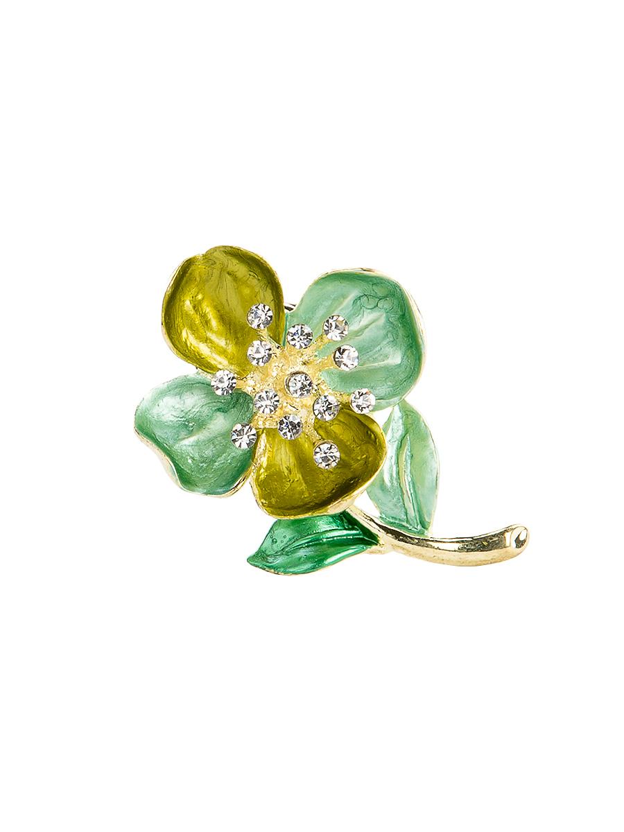 Кольцо для платка Charmante, цвет: зеленый, желтый. ZK051ZK051Оригинальное кольцо для платка Charmante выполнено из металла в виде цветка. Кольцо декорировано блестящими стразами. Аксессуар с внутренней стороны дополнен кольцами-держателями. Стильное кольцо придаст вашему образу изюминку и подчеркнет индивидуальность.