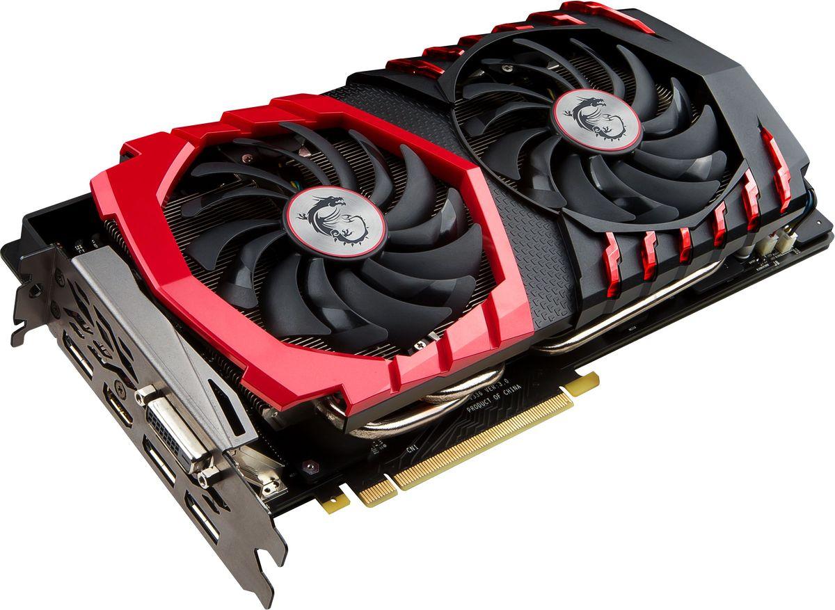 MSI GeForce GTX 1080 Gaming 8G 8GB видеокартаGTX 1080 GAMING 8GMSI GeForce GTX 1080 Gaming демонстрирует наивысшую производительность и поддерживает передовые технологии NVIDIA GameWorks и GeForce Experience в самых современных компьютерных играх. Видеокарта GTX 1080 на основе графического ядра Pascal демонстрирует высочайшую производительность и энергоэффективность, а такие особенности как, ультра-быстрые транзисторы FinFET и поддержка DirectX 12, способствуют плавному геймплею и высокой скорости в играх. Ядро Pascal разработано специально для работы с дисплеями следующего поколения, включая решения для виртуальной реальности, ультра-высокое разрешение и подключение нескольких мониторов. Технологии NVIDIA GameWorks обеспечивают максимально плавный геймплей и кинематографическое качество. Кроме этого, становится возможным осуществлять захват видео с революционно новыми возможностями - углом обзора 360 градусов. Откройте для себя новое поколение виртуальной реальности, минимальные задержки и...