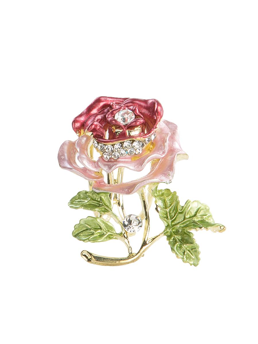 Кольцо для платка Charmante, цвет: красный, зеленый, розовый. ZK050ZK050Оригинальное кольцо для платка Charmante выполнено из металла в виде цветка. Кольцо декорировано блестящими стразами. Аксессуар с внутренней стороны дополнен кольцами-держателями. Стильное кольцо придаст вашему образу изюминку и подчеркнет индивидуальность.