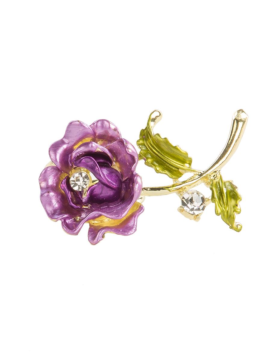 Кольцо для платка Charmante, цвет: лиловый. ZK049ZK049Оригинальное кольцо для платка Charmante выполнено из металла в виде цветка. Кольцо декорировано блестящими стразами. Аксессуар с внутренней стороны дополнен кольцами-держателями. Стильное кольцо придаст вашему образу изюминку и подчеркнет индивидуальность.