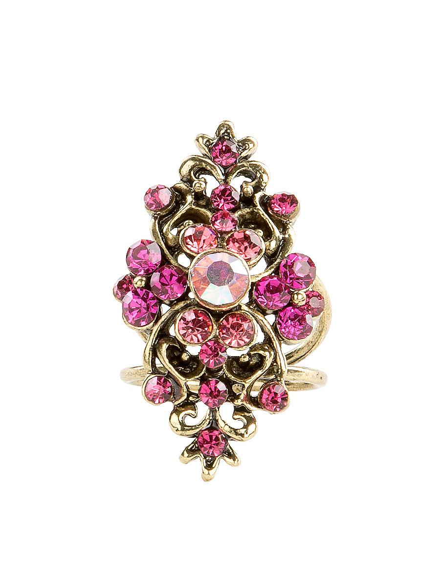 Кольцо для платка Charmante, цвет: розовый. ZK040ZK040Оригинальное кольцо для платка Charmante выполнено из металла. Кольцо декорировано блестящими стразами. Аксессуар с внутренней стороны дополнен кольцами-держателями. Стильное кольцо придаст вашему образу изюминку и подчеркнет индивидуальность.