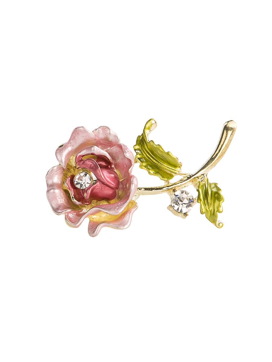 Кольцо для платка Charmante, цвет: розовый. ZK049ZK049Оригинальное кольцо для платка Charmante выполнено из металла в виде цветка. Кольцо декорировано блестящими стразами. Аксессуар с внутренней стороны дополнен кольцами-держателями. Стильное кольцо придаст вашему образу изюминку и подчеркнет индивидуальность.