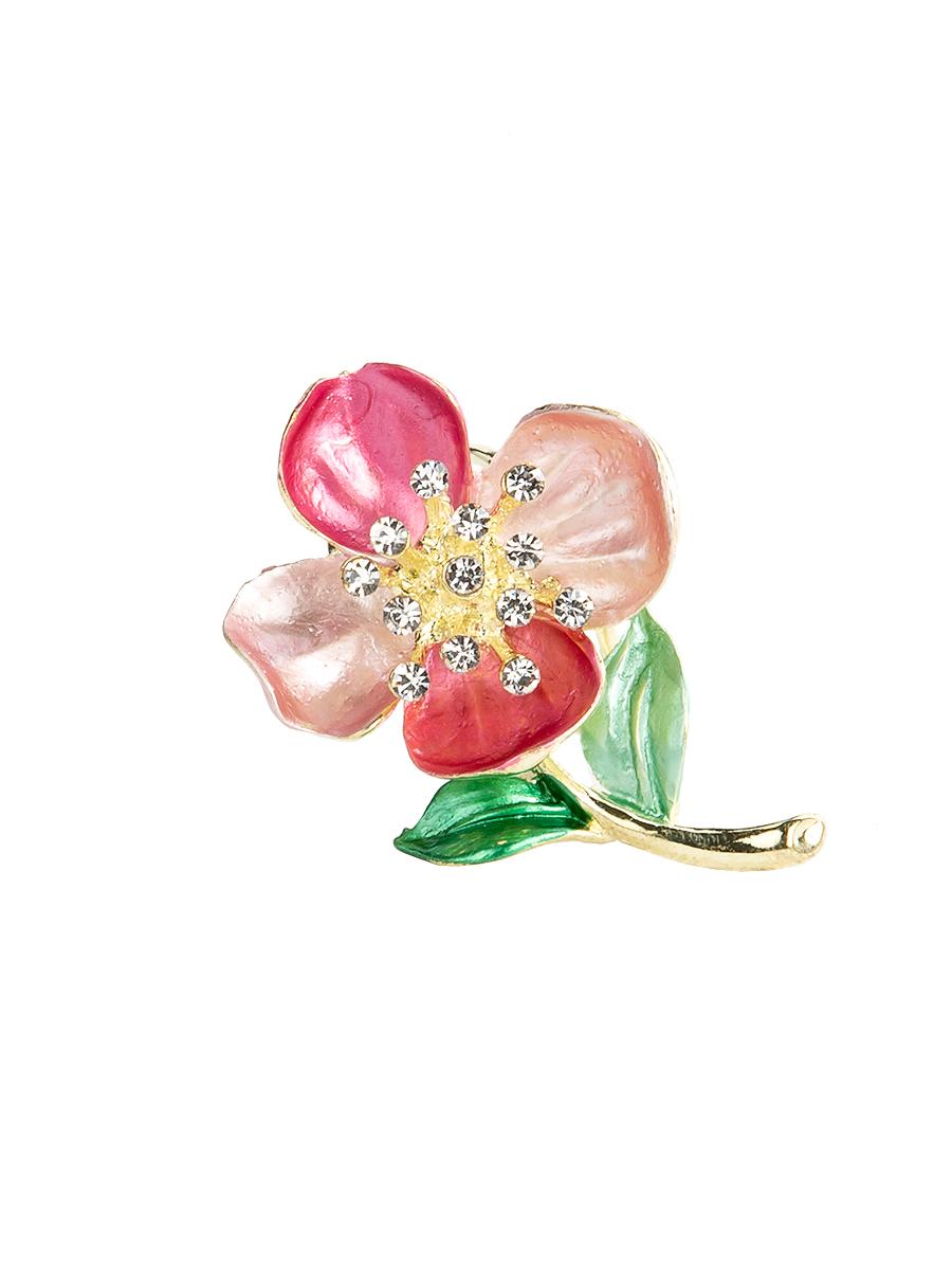 Кольцо для платка Charmante, цвет: розовый. ZK051ZK051Оригинальное кольцо для платка Charmante выполнено из металла в виде цветка. Кольцо декорировано блестящими стразами. Аксессуар с внутренней стороны дополнен кольцами-держателями. Стильное кольцо придаст вашему образу изюминку и подчеркнет индивидуальность.