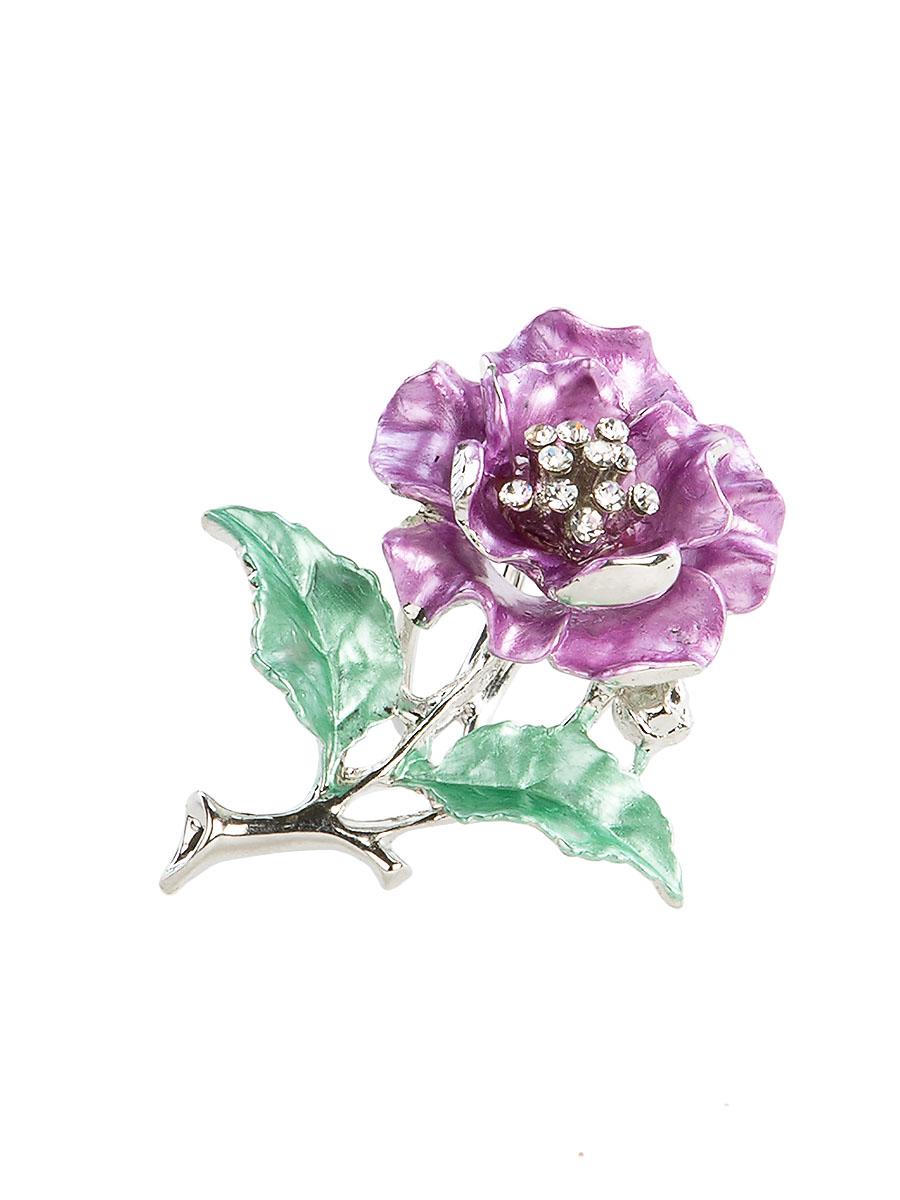 Кольцо для платка Charmante, цвет: сиреневый, зеленый. ZK052ZK052Оригинальное кольцо для платка Charmante выполнено из металла в виде цветка. Кольцо декорировано блестящими стразами. Аксессуар с внутренней стороны дополнен кольцами-держателями. Стильное кольцо придаст вашему образу изюминку и подчеркнет индивидуальность.