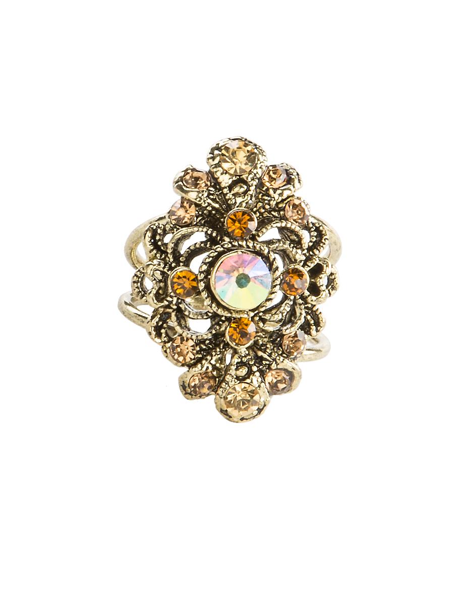 Кольцо для платка Charmante, цвет: янтарный. ZK044ZK044Оригинальное кольцо для платка Charmante выполнено из металла. Кольцо декорировано блестящими стразами. Аксессуар с внутренней стороны дополнен кольцами-держателями. Стильное кольцо придаст вашему образу изюминку и подчеркнет индивидуальность.