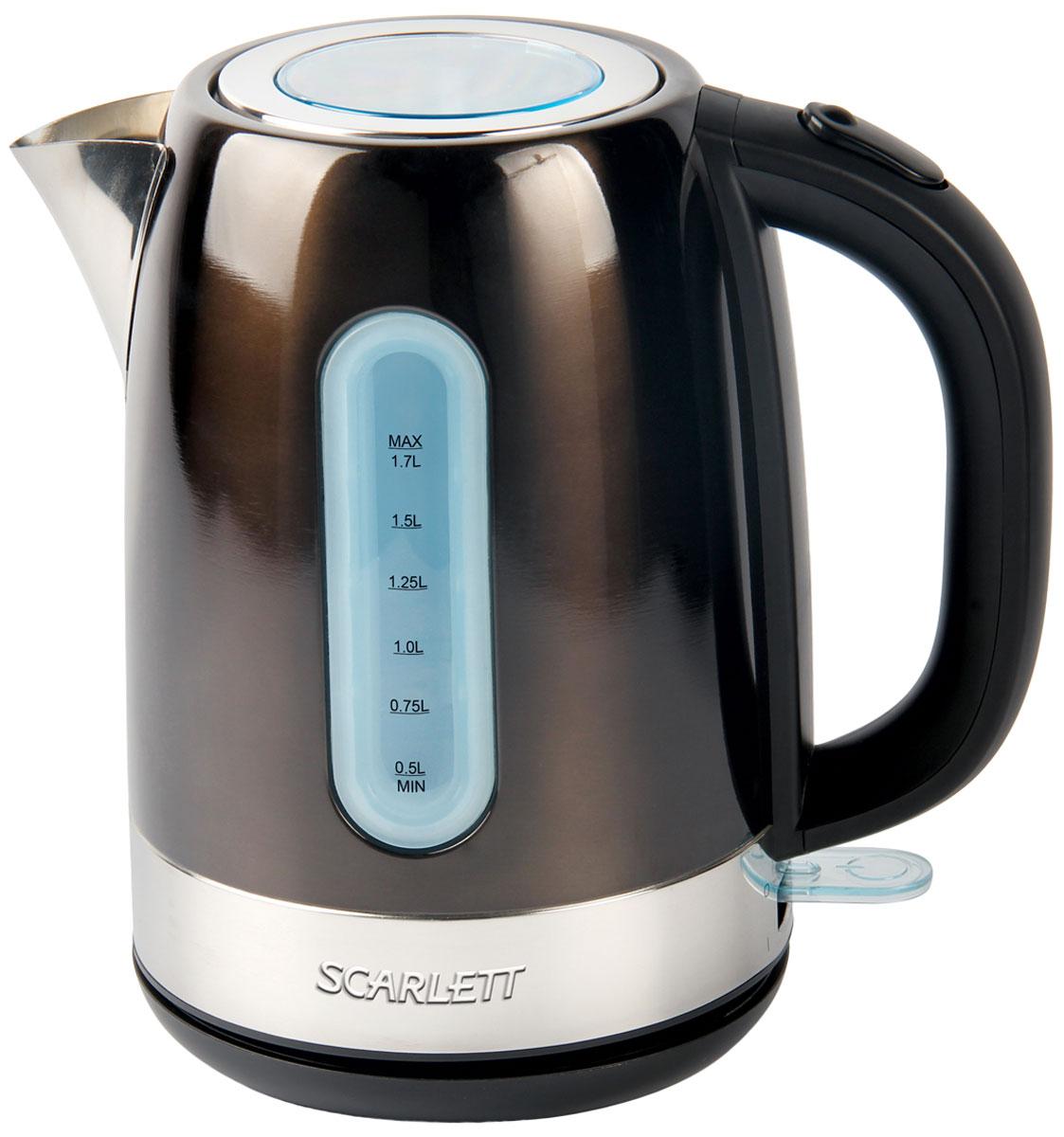 Scarlett SC-EK21S39, Dark Olive электрический чайникSC-EK21S39Электрический чайник Scarlett SC-EK21S39 кипятит воду быстро, чтобы сэкономить ваше время. Корпус из высококачественной матовой нержавеющей стали сохраняет природные свойства воды. Применение современных материалов обеспечивает долговечность и высокие потребительские качества. Резервуар изделия имеет хорошую вместительность - его объём составляет 1,7 литра. Высокая мощность - 2200 Вт - обеспечивает хорошую скорость закипания. Большое смотровое окно в крышке разработано для контроля процесса кипячения.