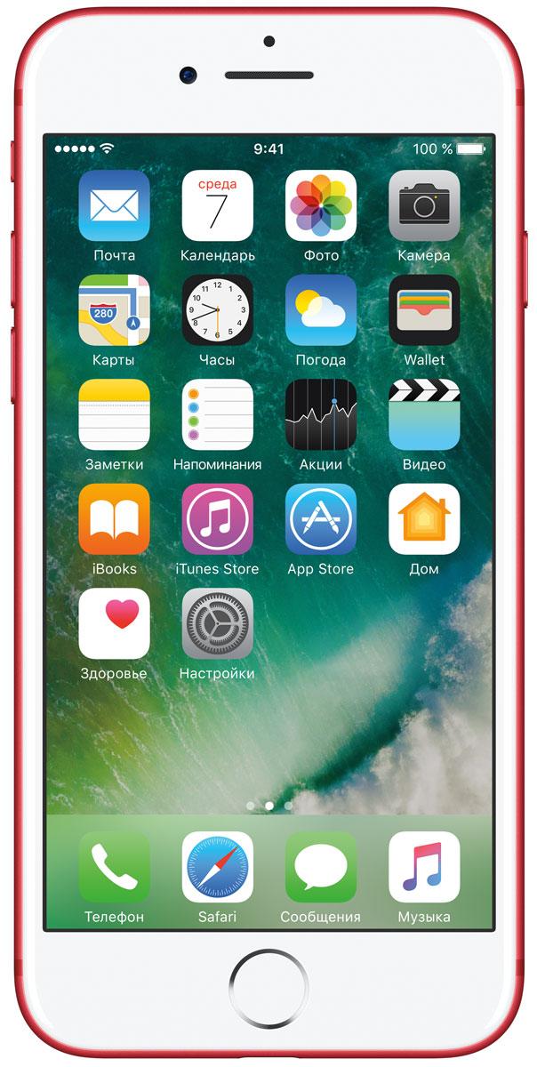 Apple iPhone 7 (PRODUCT)RED Special Edition 256GBMPRM2RU/AiPhone 7 оснащен передовой камерой, которая позволяет делать невероятные снимки, увеличенной производительностью и самым долговечным аккумулятором среди всех iPhone, великолепными стереодинамиками, системой широкой цветопередачи от камеры к дисплею, доступны в двух новых великолепных цветах, а также впервые на iPhone - защита от воды и пыли. В iPhone 7 встроена самая популярная в мире камера. Благодаря совершенно новым функциям она стала ещё лучше. 12-мегапиксельная камера в iPhone 7 оснащена системой оптической стабилизации изображения, обладает расширенной диафрагмой f/1.8 и 6-элементным объективом для съёмки ещё более ярких и детальных фотографий и видео. Расширенный цветовой диапазон позволяет фиксировать яркие цвета во всех деталях. Другие усовершенствования камеры: Новый процессор обработки сигнала изображения, созданный Apple, обрабатывает более 100 миллиардов операций на одной фотографии всего за 25 миллисекунд. Это обеспечивает...