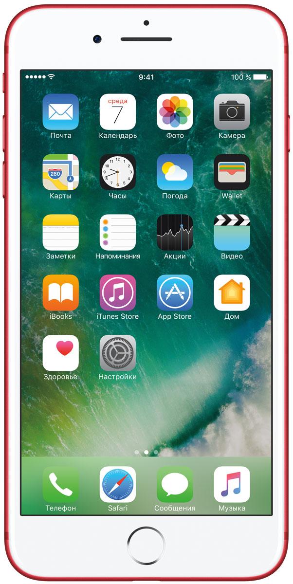 Apple iPhone 7 Plus (PRODUCT)RED Special Edition 128GBMPQW2RU/AiPhone 7 Plus оснащен передовыми камерами, которые позволяют делать невероятные снимки, увеличенной производительностью и самым долговечным аккумулятором среди всех iPhone, великолепными стереодинамиками, системой широкой цветопередачи от камеры к дисплею, доступны в двух новых великолепных цветах, а также впервые на iPhone - защита от воды и пыли. В iPhone 7 Plus встроена самая популярная в мире камера. Благодаря совершенно новым функциям она стала ещё лучше. 12-мегапиксельная камера в iPhone 7 Plus оснащена системой оптической стабилизации изображения, обладает расширенной диафрагмой f/1.8 и 6-элементным объективом для съёмки ещё более ярких и детальных фотографий и видео. Расширенный цветовой диапазон позволяет фиксировать яркие цвета во всех деталях. В iPhone 7 Plus встроена такая же 12-мегапиксельная широкоугольная камера, как в iPhone 7, а также камера с телеобъективом. Вместе они обеспечивают 2-кратный оптический зум и 10-кратный цифровой зум при...