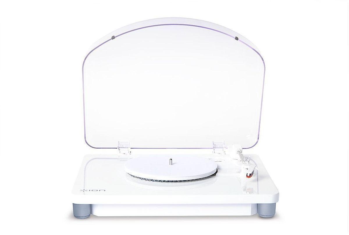 ION Audio Photon LP, White проигрыватель виниловых дисковIONphotonВиниловый проигрыватель PHONTON LP имеет многоцветную светодиодную подсветку для создания праздничной атмосферы, стильный белый корпус, функцию оцифровки и возможность подключения по USB к любому компьютеру.