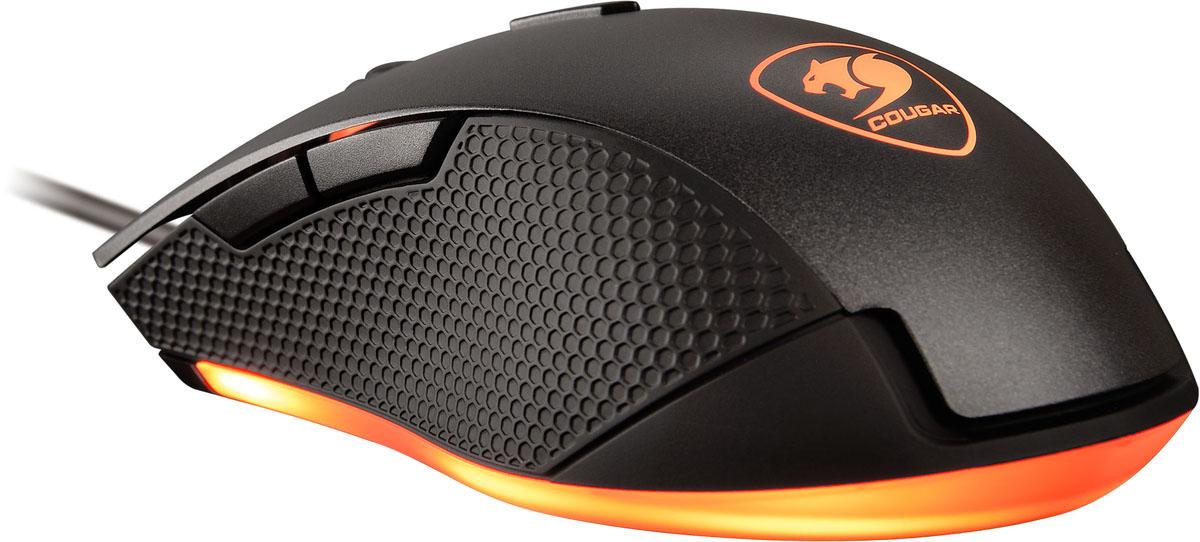 Cougar Minos X3, Black игровая мышь3MMX3WOB.0001Стильная и эргономичная мышь Cougar Minos X3 подойдет для любого типа хвата. Сенсорная технология игровой точности 3200 dpi. Высокопроизводительный оптический датчик. Переключатели Omron гарантируют 10 миллионов кликов. Система настройки разрешения dpi On–The–Fly обеспечивает быстрое переключение между различными настройками разрешения. Восемь цветов и 10 различных световых эффектов, для создания особенной игровой атмосферы. Мышь Cougar Minos X3 поможет сохранить все движения под контролем, благодаря качественному нескользящему боковому покрытию из софт-тач пластика.