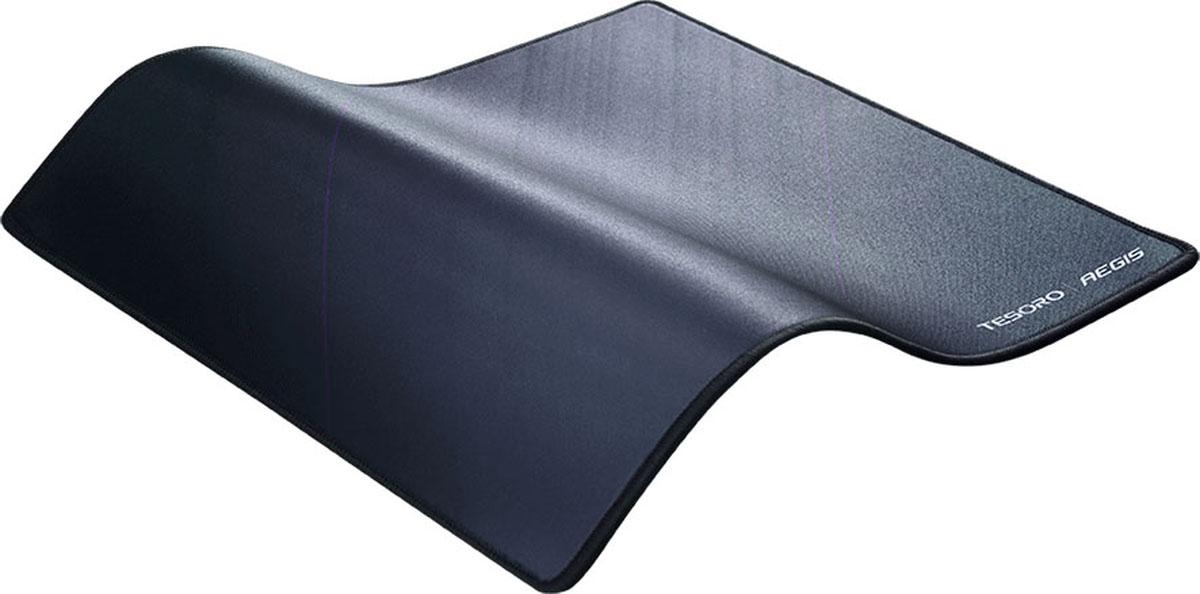 Tesoro Aegis X3, Black игровой коврик для мышиTS-X3Поверхность Speed Прострочка краев Нескользящая прорезиненная основа