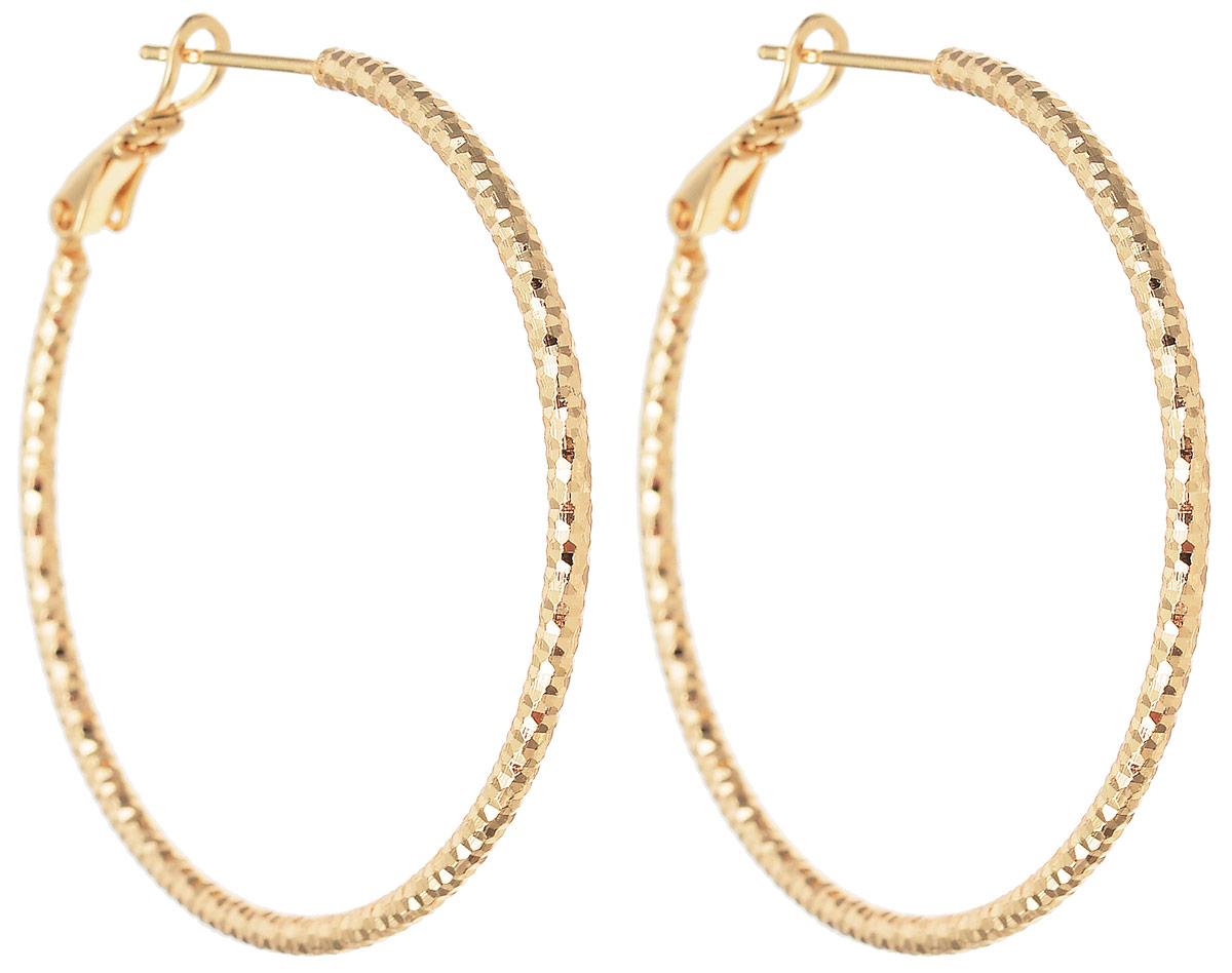 Серьги Taya, цвет: золотистый. T-B-11988T-B-11988-EARR-GOLDМодные позолоченные серьги Taya с застежкой конго имеют круглую форму. Изготовлено изделие из качественного бижутерного сплава.
