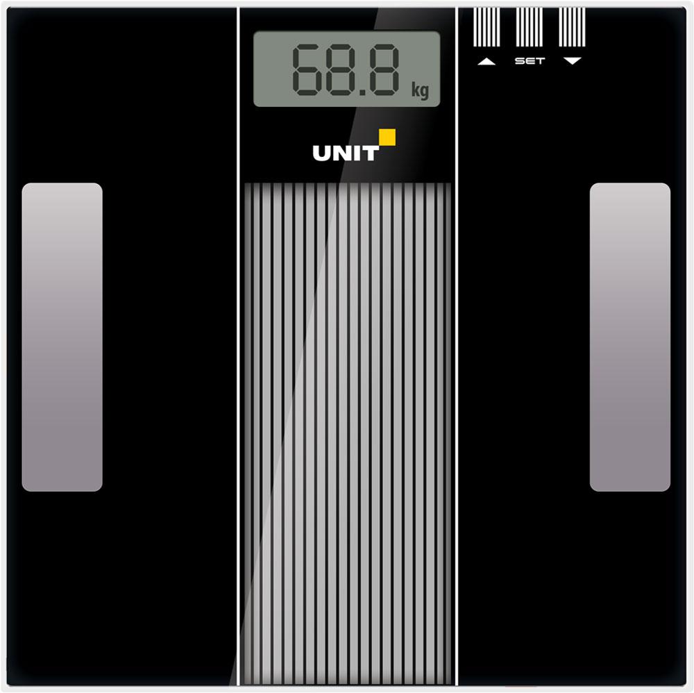 Unit UBS-2210, Black весы напольные электронныеCE-0462776Напольные электронные весы Unit UBS-2210 - неотъемлемый атрибут здорового образа жизни. Они необходимы тем, кто следит за своим здоровьем, весом, ведет активный образ жизни, занимается спортом и фитнесом. Очень удобны для будущих мам, постоянно контролирующих прибавку в весе, также рекомендуются родителям, внимательно следящим за весом своих детей. Минимальная нагрузка: 2 кг