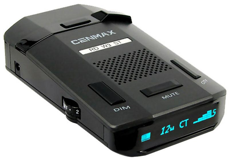 Inspector Cenmax RD W3 ST, Black радар-детекторCENMAX RD W3 STInspector Cenmax RD W3 ST - это высокотехнологичное устройство, включающее в себя высококачественный радар-детектор для обнаружения сигналов радаров ГИБДД и GPS-информатор с широким функционалом и обновляемой базой GPS координат. Радар-детектор - устройство, позволяющее определить сигнал радара ГИБДД, который используется для определения скорости движения вашего автомобиля. Такое предупреждение позволит вам заблаговременно сбросить скорость вашего автомобиля в случае, если она превышает допустимую правилами данного участка движения, и избежать штрафа за нарушение. GPS-информатор - устройство, предназначенное для заблаговременного оповещения о стационарных объектах контроля скорости, благодаря внесенной в память устройства базе координат. Эта база данных является обновляемой и содержит координаты стационарных, малошумных радаров, безрадарных комплексов видео фиксации типа Автодория, камер контроля полосы движения для общественного транспорта и...