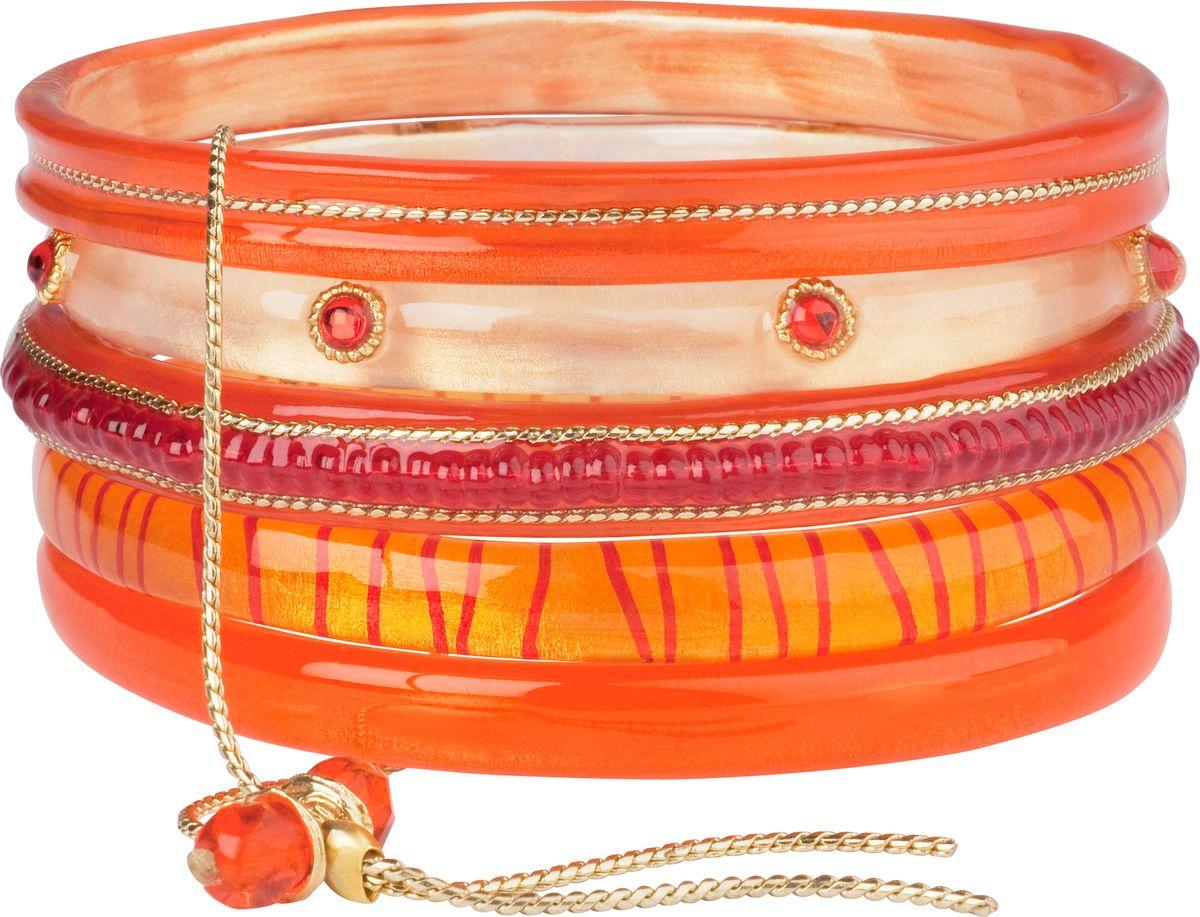 Браслет Lalo Treasures, цвет: оранжевый. Bn2484Bn2484Яркие дизайнерские акссесуары от Lalo Treasures станут отличным дополнением к Вашему стилю