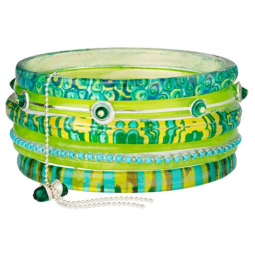 Браслет Lalo Treasures, цвет: зеленый. Bn2536Bn2536Яркие дизайнерские акссесуары от Lalo Treasures станут отличным дополнением к Вашему стилю