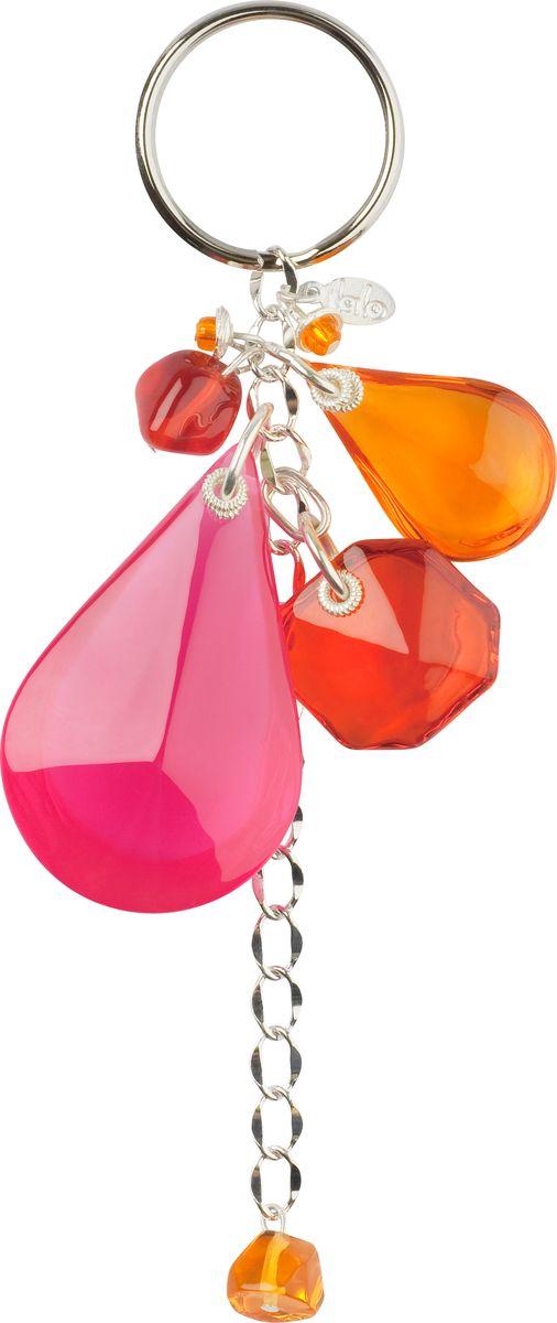 Брелок Lalo Treasures, цвет: розовый, оранжевый. KR4839KR4839Яркие дизайнерские акссесуары от Lalo Treasures станут отличным дополнением к Вашему стилю