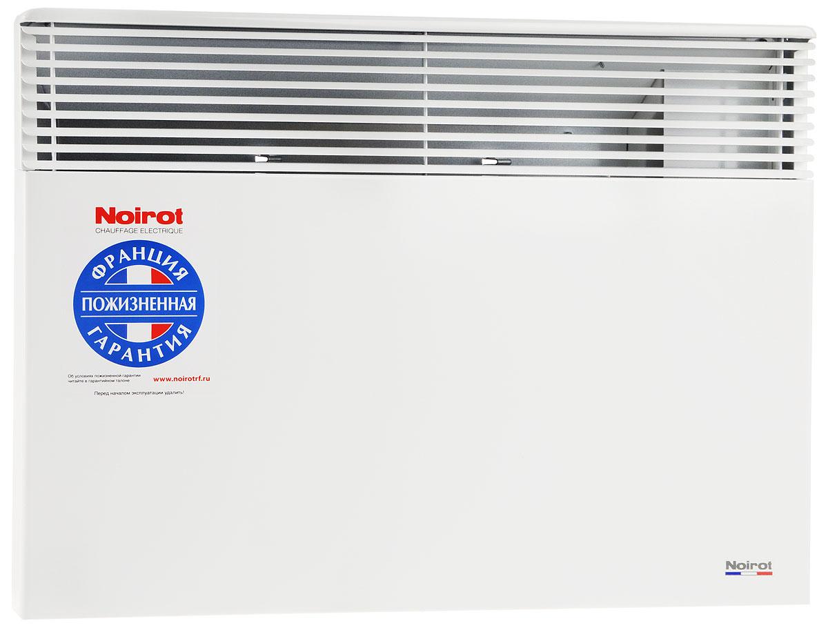 Noirot Spot E-5 2000W обогревательHYH1177FDFSNoirot Spot E-5 - это электрический обогреватель конвективного типа. Вся конструкция направлена на равномерное распределение тепла для обогрева с максимальным комфортом. Конвектор работает по принципу естественной конвекции. Холодный воздух, проходя через прибор и его нагревательный элемент, нагревается и выходит сквозь решетки-жалюзи, незамедлительно начиная обогревать помещение. Конструктивные особенности конвекторов серии Spot E-5 исключают возникновение посторонних шумов при нагреве и остывании электрических обогревателей и гарантируют полную безопасность в эксплуатации (отсутствие острых углов, нагрев поверхности не выше 60°С). Обогреватели серии оснащены электронным цифровым термостатом ASIC, который поддерживает температуру с точностью до 0,1°С. Высокая точность поддержания температуры приводит к экономии электроэнергии, увеличению срока службы прибора и созданию максимального комфорта в помещении без скачков температуры. ...