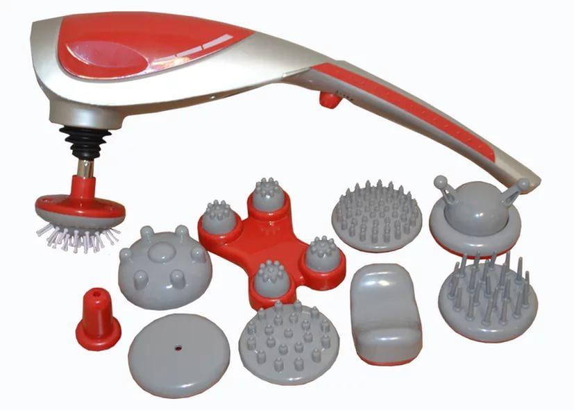 Zenet ZET-718 Массажёр ручной WH-301615032018Принцип действия - Вибромассаж и ИК прогрев Предназначен для проведения расслабляющего, восстанавливающего, стимулирующего, антицеллюлитного массажа, массажа акупунктурных точек. Количество насадок - 10шт Состав комплекта Массажер, Насадки пальчиковые, Насадки роликовые Программ массажа: 2