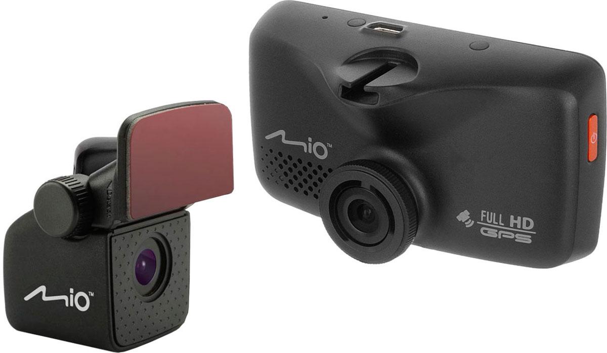 Mio Mivue 698, Black видеорегистраторMivue 698Видеорегистратор Mio MiVue 698 с двумя камерами позволяет обеспечить оптимальный контроль событий на дороге, как спереди, так и сзади автомобиля. Передовая оптическая система состоит из 5 высококачественных стеклянных линз и инфракрасного фильтра. Они пропускают больше света и создают более яркую и чёткую картинку. Апертура f/2.0 обеспечивает контрастное и яркое отображение даже при плохом освещении. Широкий угол обзора 140° позволяет получить полную картину всегда и везде. Ручная установка экспозиции видеорегистратора позволяет в сложных условиях освещённости, таких как снегопад или яркие солнечные лучи, регулировать яркость видео. Устройство оснащено двумя слотами под карты памяти, что позволит вам в случае необходимости скопировать файлы на дополнительную карту. Наличие встроенного GPS приемника в видеорегистраторе, позволяет непрерывно записывать информацию о местоположении, скорости и высоте над уровнем моря, а так же...