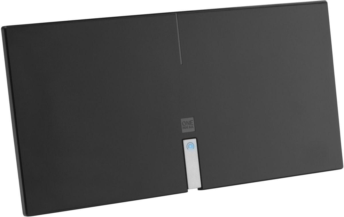 One For All SV9435 Premium Line, комнатная ТВ антеннаSV9435Активная цифровая антенна с автоматическим усилением сигнала до 46 дБ, FullHD/4K, фильтрами GSM/4G, 4K UHD, дальность до 25 км.