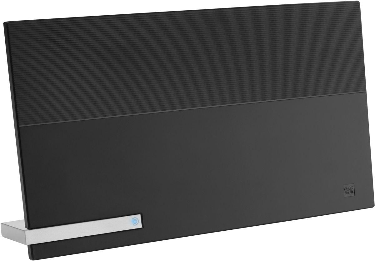 One For All SV9480 Premium Line, комнатная ТВ антеннаSV9480Активная цифровая антенна с автоматическим усилением сигнала до 48 дБ, FullHD/4K, фильтрами GSM/4G, 4K UHD, дальность до 25 км.