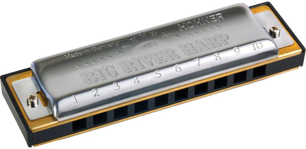 Hohner Big river harp 590/20 G (M590086X) губная гармошкаDNT-16538Hohner Big river harp - недорогие высококачественные гармошки с пластиковым корпусом и сочным звуком. Отличный выбор для начинающего харпера. Все компоненты соединяются болтами, что позволяет быстро собирать и разбирать гармошки. 20 медных язычков Вид: диатоническая Строй: мажор Количество отверстий: 10 Платы: медь (0,9 мм) Корпус: ABS пластик Тональность: E