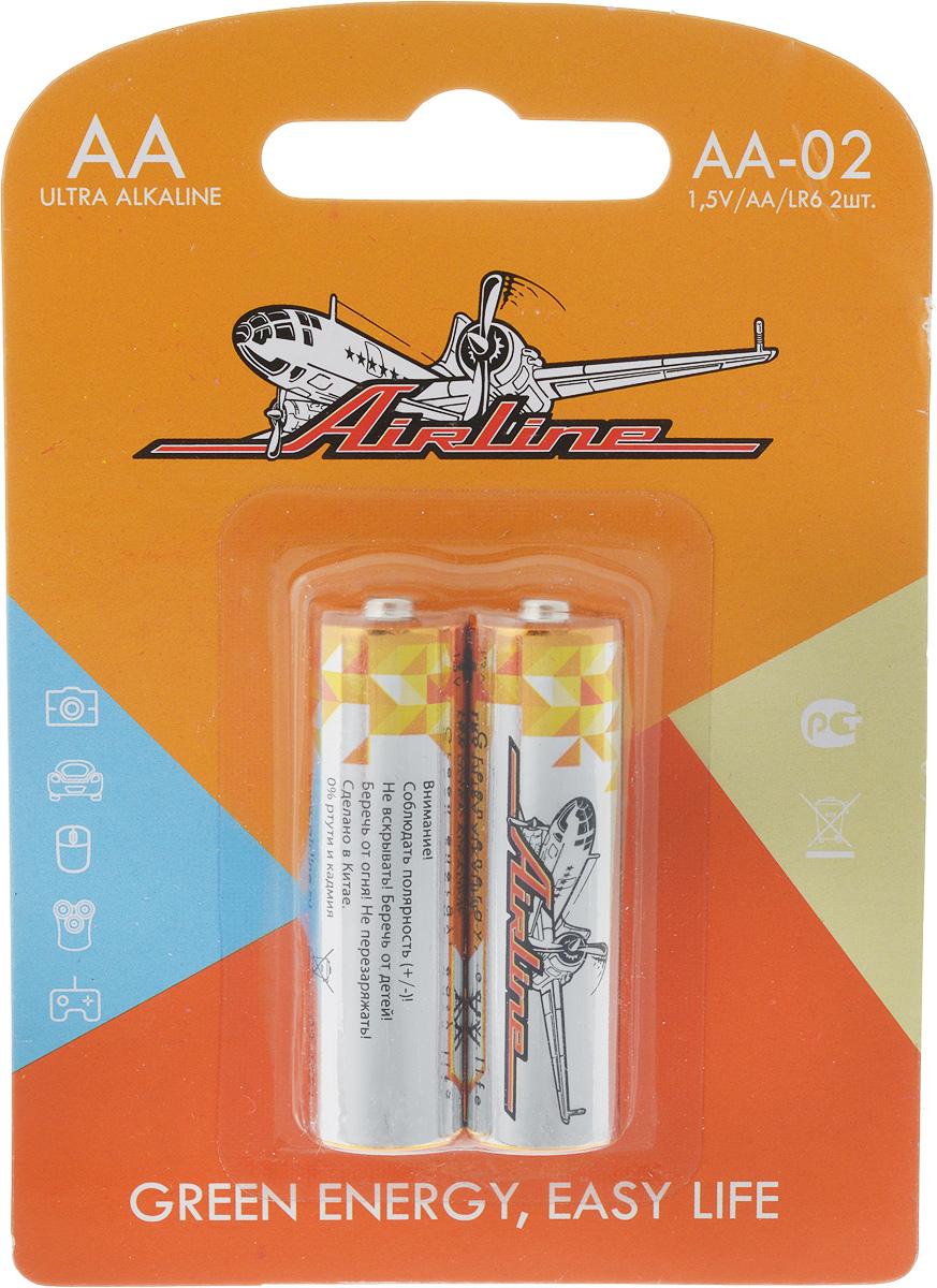 Набор алкалиновых батареек Airline, тип AA, 2 штAA-02Функционирование электронных устройств осуществляется при помощи подключения батареек различного устройства. Щелочные батарейки предназначены для питания техники различных размеров и функциональных сфер применения. Батарейки следует использовать исключительно в соответствии с нормами безопасности. В комплекте от AIRLINE представлены две батарейки модели LR6/AA.