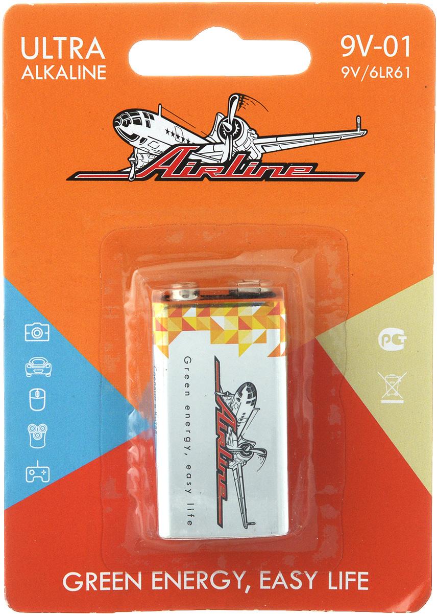 Батарейка алкалиновая Airline, тип крона 6LR619V-01Алкалиновая батарейка Airline типа крона функционирует с приборами средних и мелких габаритов. Батарейка работает на щелочной основе. Изделие выполнено в стандартной прямоугольной форме. Батарейка прошла многоуровневый контроль качества и не содержит ртути и кадмия. Работает в 10 раз дольше, чем обычные солевые элементы питания.