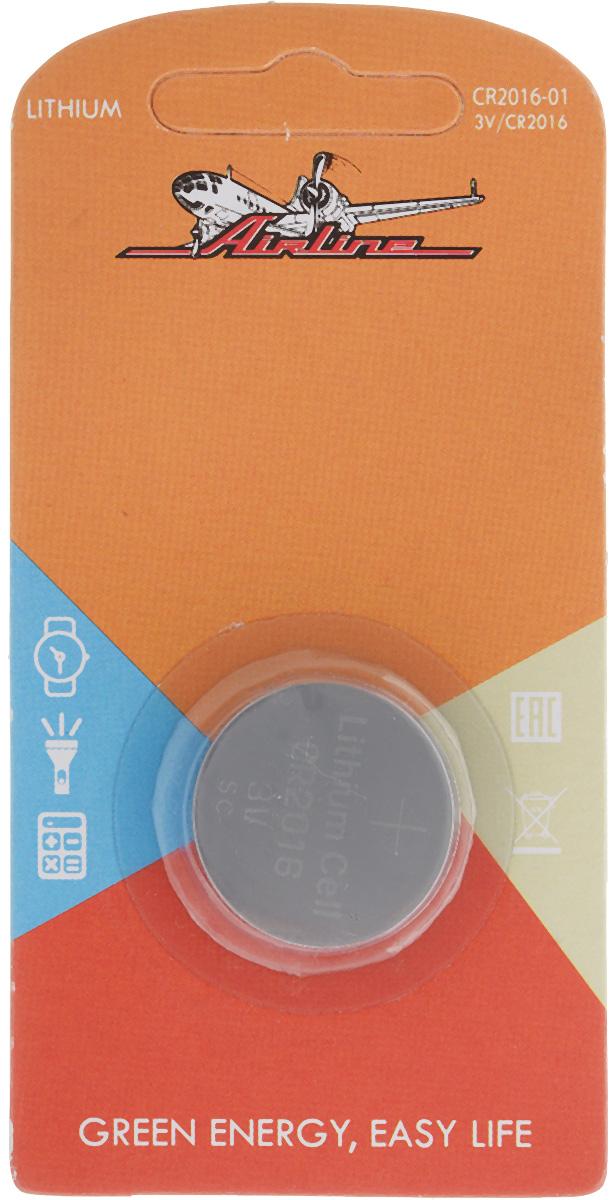 Батарейка литиевая Airline, тип CR2016, 3VCR2016-01Литиевая батарейка Airline типа CR2016 предназначена для обеспечения питания мелкогабаритной техники. Изделие подходит для таких устройств, как брелки, карманные фонарики, сигнализации и многое другое. Работает в 10 раз дольше, чем обычные солевые элементы питания. Диаметр батарейки: 2 см.