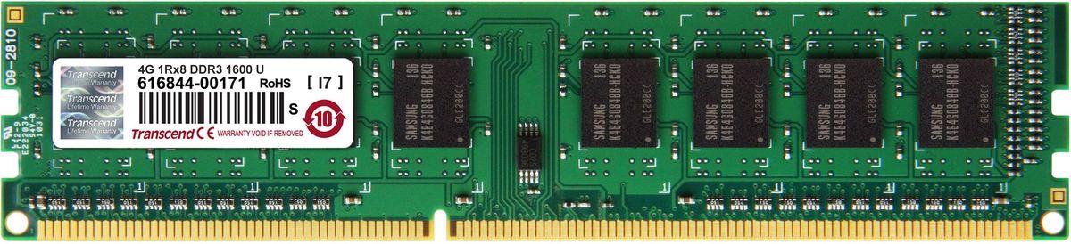 Transcend DDR3 DIMM 4GB 1600МГц модуль оперативной памятиTS512MLK64V6H