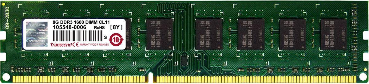 Transcend DDR3 DIMM 8GB 1600МГц модуль оперативной памятиTS1GLK64V6H