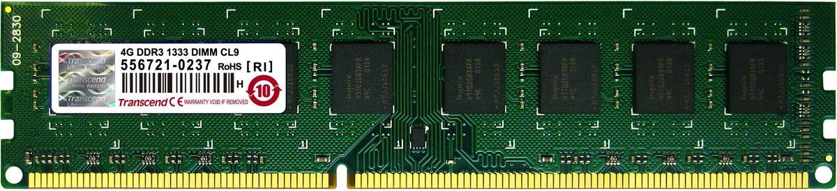 Transcend DDR3 DIMM 4GB 1333МГц модуль оперативной памятиTS512MLK64V3N