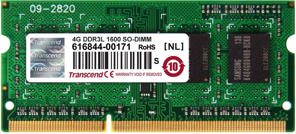 Transcend DDR3L SODIMM 4GB 1600МГц модуль оперативной памятиTS512MSK64W6HМиниатюрные размеры модуля памяти Transcend DDR3L SODIMM 4GB делают его подходящим для использования в ноутбуках. Частота 1600 МГц обеспечивает его высокую производительность (этот параметр легко можно отследить с помощью стандартного теста, проведенного любой операционной системой). Установка проста, не занимает много времени и не требует от вас наличия специальных знаний и умений. Модуль изготовлен из высококачественного текстолита, благодаря чему обладает очень высокой прочностью и долговечностью. Количество ранков: 1