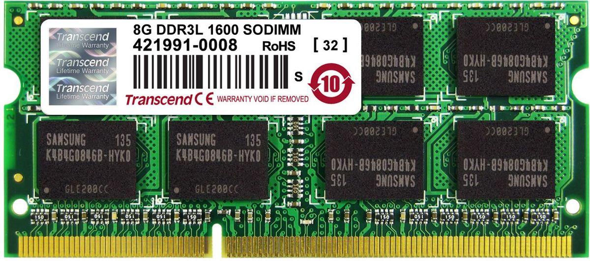Transcend DDR3L SODIMM 8GB 1600МГц модуль оперативной памятиTS1GSK64W6H