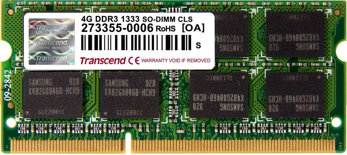 Transcend DDR3 SODIMM 4GB 1333МГц модуль оперативной памяти