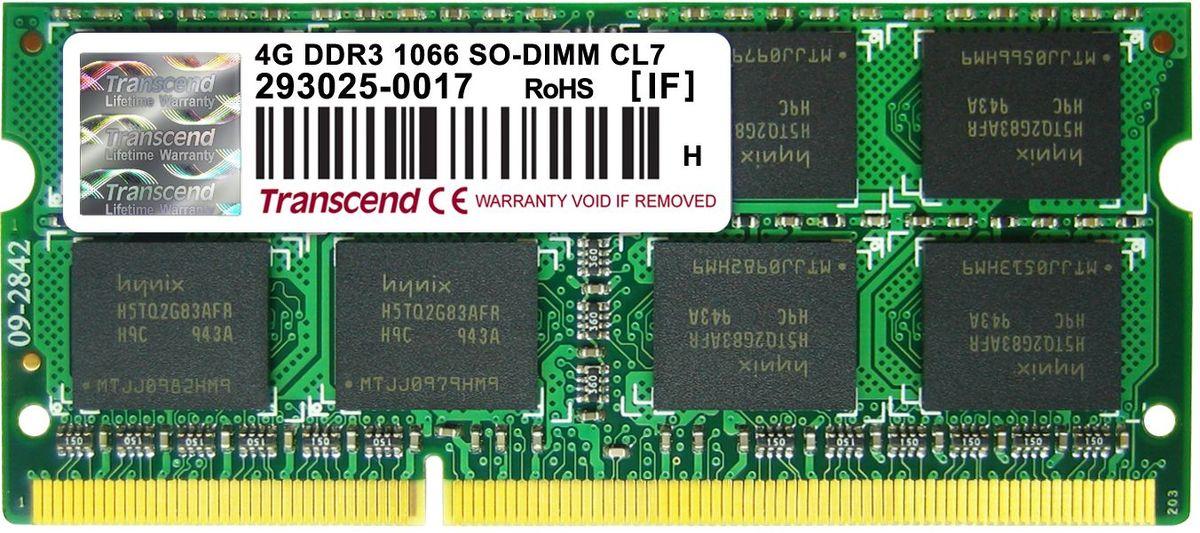Transcend DDR3 SODIMM 4GB 1066МГц модуль оперативной памятиTS512MSK64V1N