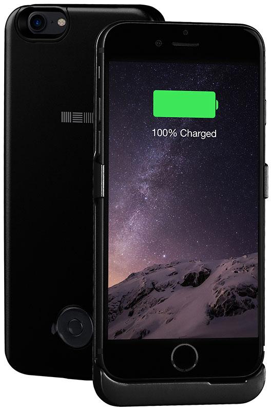 Interstep чехол-аккумулятор для Apple iPhone 7, Jet Black (3000 мАч) 48244