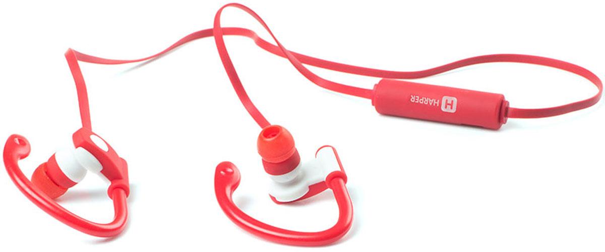 Harper HB-107, Red наушники00-00001142Беспроводные наушники Harper HB-107 идеально подойдут для занятий спортом. Их отличительная особенность – конструкция без дужки. Надежная фиксация обеспечивается за счет специальных креплений для уха. Такой подход минимизирует вес устройства и не стесняет движений. Вместе с тем, Harper HB-107 обеспечивают высокое качество звучания и насыщенные басы. Они воспроизводят звук в частотах от 20 Гц до 20 кГц, что выходит за рамки восприятия большинства меломанов. Время работы устройства без подзарядки – до 4-5 часов. Этого хватит для любой тренировки или пробежки. Полный цикл заряда происходит всего за 2 часа. Harper HB-107 совместимы с большинством смартфонов. Версия стандарта Bluetooth – 4.0. Радиус эффективного получения радиосигнала – до 10 метров (при условии отсутствия активных и пассивных помех). Внешний вид наушников лаконичен и подойдет как к спортивной форме, так и к повседневной одежде. Имеется встроенный микрофон,...