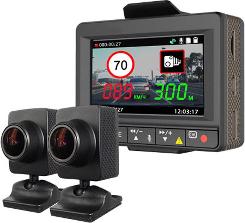 Inspector Scirocco, Black видеорегистраторSciroccoInspector Scirocco – это уникальное многофункциональное устройство, включающее в себя двухканальный Full HD (1920х1080p) видеорегистратор с выносными камерами для скрытой установки с широкими углами обзора — 160°. Передовые технологии улучшения качества съемки HDR и WDR Отображение скорости движения, направления движения (электронный компас), географических координат и маршрута следования на карте при воспроизведении видео Обновляемая база данных GPS координат стационарных радаров, малошумных радаров, безрадарных комплексов видеофиксации (включая комплексы Автодория), муляжей и другого Заблаговременные голосовые и наглядные оповещения об объектах базы данных на большом (2,7) экране с указанием расстояния и ограничения скорости на данном участке Выносной GPS-модуль со встроенным динамиком позволяет расположить его в непосредственной близости от водителя для четких и ясных голосовых оповещений, а также надежного приема сигнала спутников GPS ...