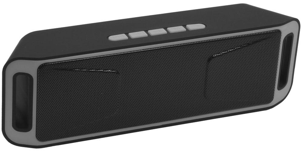 Liberty Project S208, Black портативная Bluetooth-колонка0L-00029220Беспроводная колонка Liberty Project S208 станет отличным выбором для ценителей необычного дизайна и широкой функциональности. Слушайте любимую музыку и принимайте телефонные звонки в течении почти 6 часов на одной подзарядке, подключайтесь к устройствам по беспроводной связи Bluetooth, воспроизводите музыку с карт памяти microSD или USB накопителей. Также колонку можно использовать через AUX-подключение. Наслаждайтесь абсолютной легкостью и мобильностью.