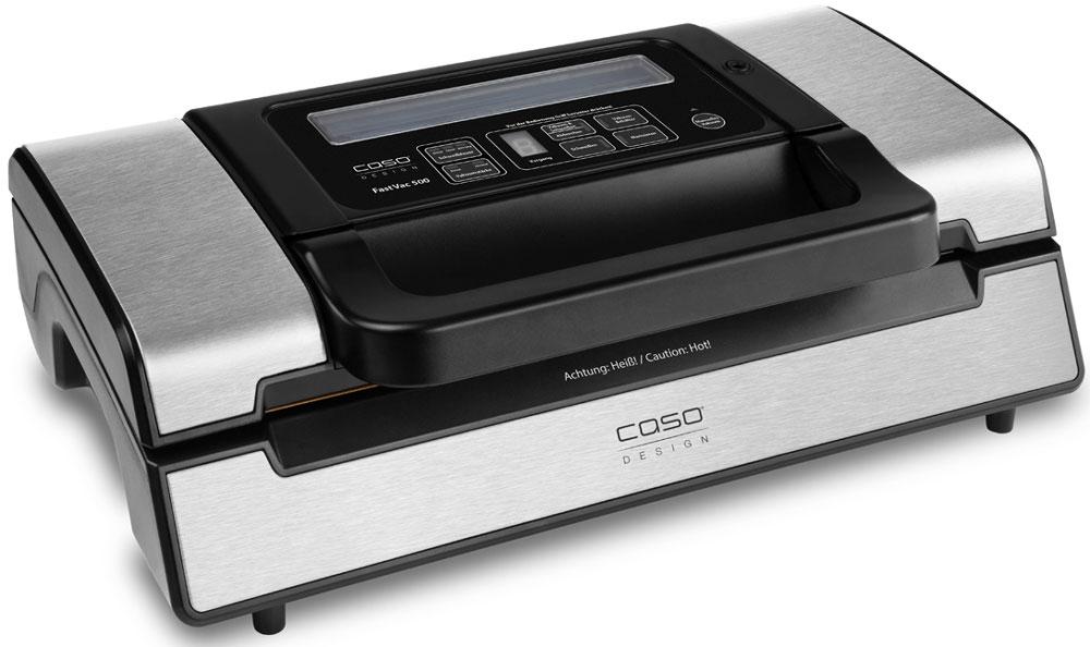 CASO FastVAC 500 вакуумный упаковщикFastVAC 500Вакуумный упаковщик CASO FastVac 500 имеет мощный двухпоршневой насос для продолжительного использования и больших объемов работы. Он оснащен удобной ручкой для быстрого запирания и отпирания вакуумной камеры. Мощность всасывания достигает 20 литров в минуту, а степень вакуума 90% (-0,9 бар). Для удобства есть выбор автоматического и ручного управления вакуумированием и сваркой пакетов шириной до 30 сантиметров. Устройство обеспечивает прочную сварку пакетов двойным швом и установку разного времени сварки для сухих и влажных продуктов. Для упаковки может быть использована доступная в продаже структурированная полиэтиленовая пленка в рулонах или готовые пакеты не более 30 см в ширину и длиной по мере необходимости.