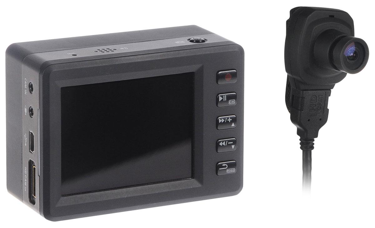 Axiom Polis CAM 1100 FullHD, Black видеорегистраторPOLIS CAM 1100Axiom Polis CAM 1100 идеально подойдет не только для водителей, но скорее для полицейских и работников частных охранных предприятий, так как съемка ведется на выносную камеру, разрешение которой 1920x1080, угол обзора широкий - 140 градусов. Как днем, так и ночью видеорегистратор показывает достойный уровень съемки. Axiom Polis CAM 1100 имеет внушительный объем аккумулятора в 3600 мАч, который обеспечивает 5 часов непрерывной съемки. Видеорегистратор имеет датчик движения, позволяющий избирательно записывать видео, только если в зоне съемки произойдет какое-либо действие. В случае чего, записанное видео можно просмотреть на экране устройства . Видеорегистратор поддерживает карты памяти SD емкостью до 32 ГБ.