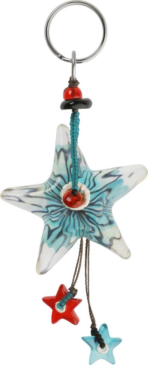 Брелок Lalo Treasures, цвет: голубой, красный. 47074707Брелок Lalo Treasures изготовлен из ювелирной смолы ярких цветов. Он оформлен подвеской в форме звездочки и крепится к кольцу с помощью крепкого шнурка. Оригинальный брелок подчеркнет вашу индивидуальность, а также станет отличным подарком для любительниц модных новинок в мире аксессуаров.